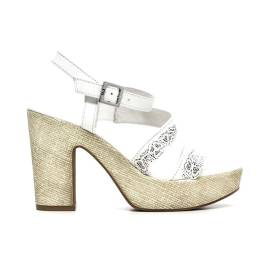 Nero Giardini Sandal High Hell Woman Leather Item P615630D 707 White