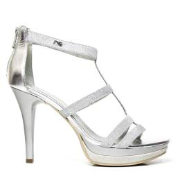Nero Giardini Sandal High Hell Woman Leather Item P5 12991 DE silver