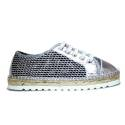 Viguera Sneakers Women With Low Wedge 1310215235091 Deportivo Glitter Multi + Baby Plata