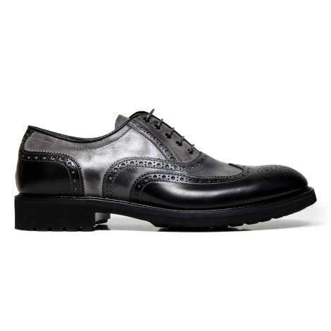 Nero Giardini woman wingtip shoes in leather A616160D 100 Nero