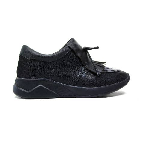 lee roy sneakers in pelle donna colore nero L381 BLACK