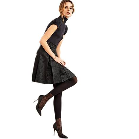 Philippe Matignon tights woman M115235PM black polyamide, elastane and cotton, with decoration on foot