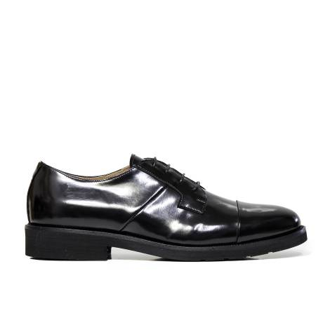 B. Young laced up shoe elegant man ART. 725 ABRASIVATO BLACK with laces Italian brand