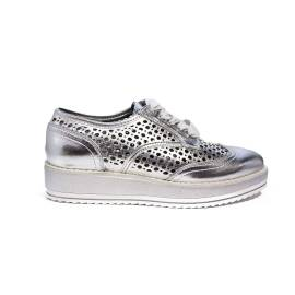 Maria Mare sneaker perforated color silver article 66637