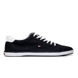 Tommy Hilfiger Men's low sneakers FM0FM00596 midnight-colored textile