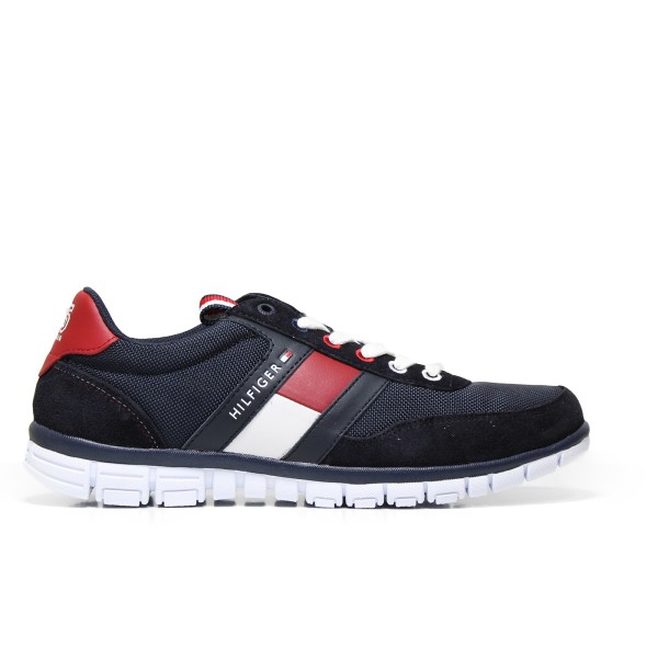 Tommy Hilfiger man gymnastic FM0FM01058 midnight-colored textile and suede