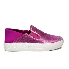 Fornarina loafer with wedge fuxia color PE17YM1002V062 YUMA-FUXIA OTELLO/LYCRA