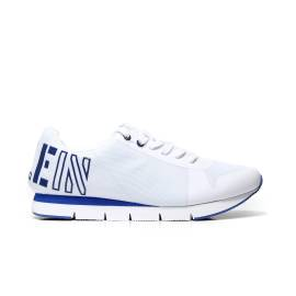 Calvin Klein Jeans S1658 sporty gymnastics in synthetic fabric in white and blue color