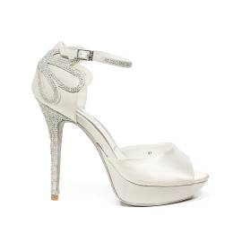 Ikaros sandal jewel with high heels white color article B 2708 BIANCO