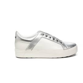 Apepazza white and silver loafer with a band refined with stones article DLW09