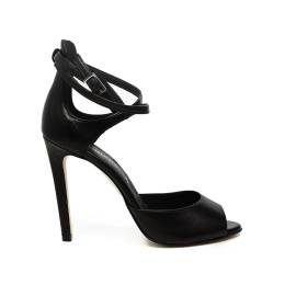 Carmens women sandal with high heel black color article 39065 Nero Giove