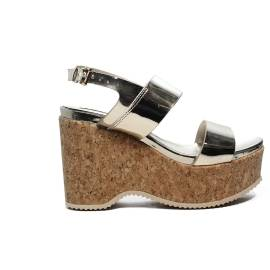 Francesco Milano Woolen eco-leather printed wedge article N10-27D-PLY