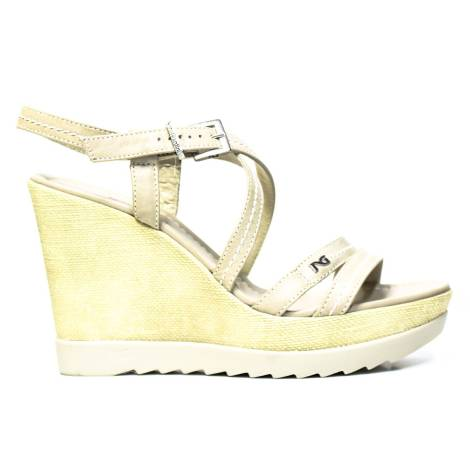 NERO GIARDINI WOMAN SANDALS WEDGE ARTICLE P512812D 410 SAND