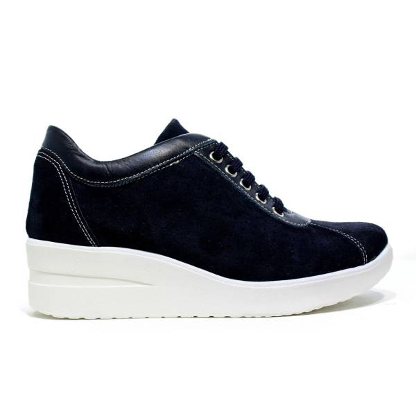 ONLY I LINE BLUE SUEDE PERFORATED