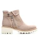 Nero Giardini Mid Heel Leather Ankle Boots Woman Middle P615192D Article 406 Tortora