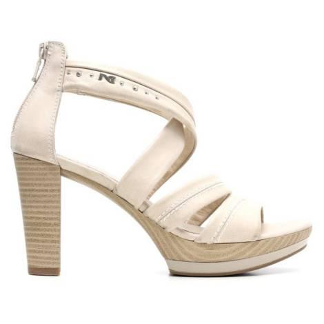 Nero Giardini Sandalo Tacco Alto Donna Pelle Articolo P615520D 410 Sabbia