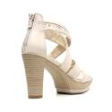 Nero Giardini Sandal High Hell Woman Leather Item P615520D 410 Sand