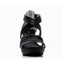 Nero Giardini Sandal High Hell Woman Leather Item P615520D 100 Black