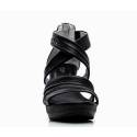 Nero Giardini Sandalo Tacco Alto Donna Pelle Articolo P615520D 100 Nero