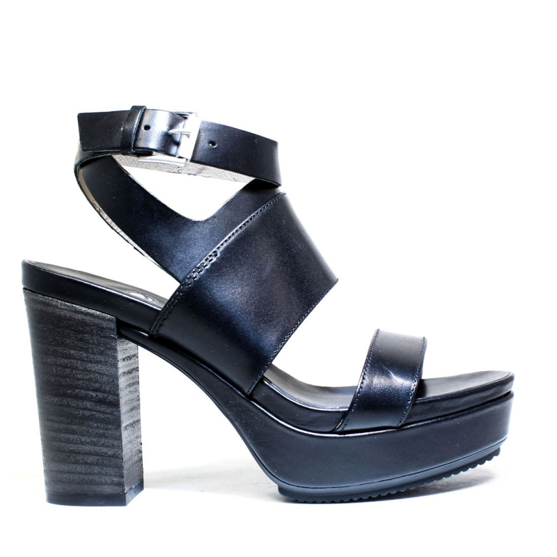 Janet Sport Sandalo Donna Tacco Alto 37908 Sandalo Sines Nero 6efc8222c35
