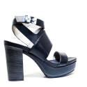 Janet Sport Sandalo Donna Tacco Alto 37908 Sandalo Sines Nero