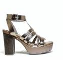 Janet Sport Sandals Woman High Heel 37909 Aveiro Gold