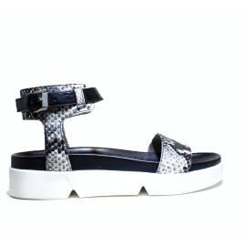 Janet Sport Flat Sandals Woman 37751 Sandal Janeiro Black