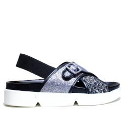 Janet Sport Flat Sandals Woman 37757 Bonito Gunmetal