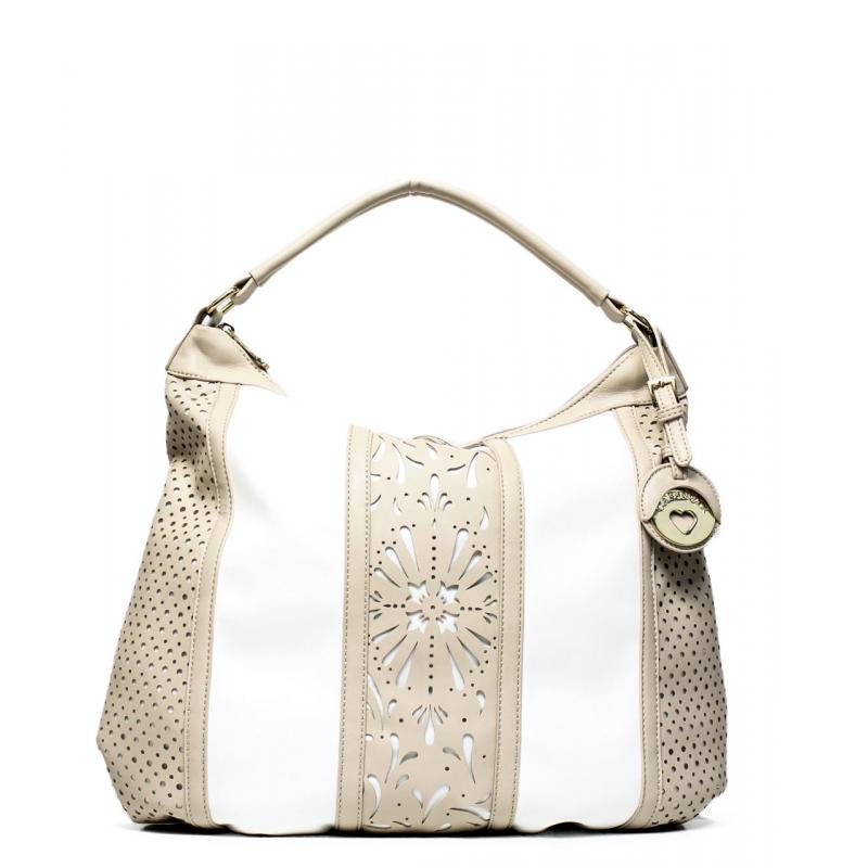 d3656a6a75 Cafe noir woman bag QBL001 1938 white/sand