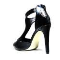 Francesco Milano High Heel Sandals Black L210L