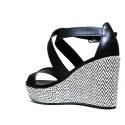Francesco Milano High Heel Sandals Black L267P