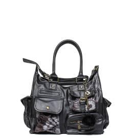 Desigual woman bag 47X5082 2000 black London printed
