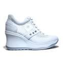 Agile by Rucoline Sneaker Wedge Medium High Art. 1800-82627 1800 A Leon White