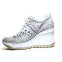 Agile by Rucoline Sneaker Wedge Medium High Art. 1800-82627 1800 A Leon Beige