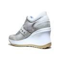 Agile by Rucoline Sneaker con Zeppa Media Alta 1800-82627 1800 A Leon Beige