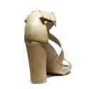 Francesco Milano High Heel Sandals Leather L229P