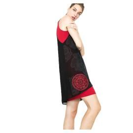Desigual Vestito corto 61V28N7 2000 rosso e nero Blackville