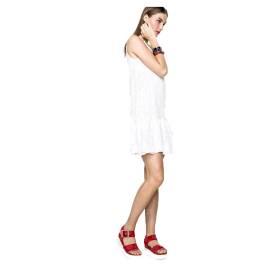 Desigual Vestito corto 61V2LD3 1000 bianco Lucia