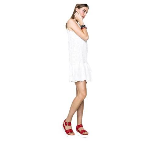 Desigual Vestito corto 61V28N7 2000 rosso e nero