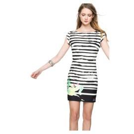 Desigual short dress 61V20N7 1010 black Rayas Paint