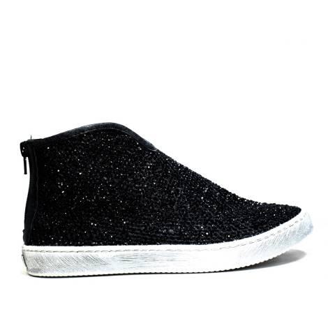 La Femme Plus Sneaker Donna Ginnica Bassa Art. SS05-4 Napa Mesh Black Calf Black