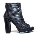 La Femme Plus Gun Woman High Heel Art. LA2-1 Black Calf