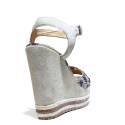 La Femme Plus Sandal Woman High Wedge Art. LA5-6 Suede Sand Kaobu Natural