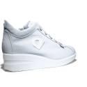 Agile by Rucoline Sneaker con Zeppa Media Alta Art. 0226-82639 226 A Tecno Ghiaccio