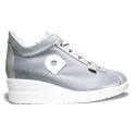 Agile by Rucoline Sneaker con Zeppa Media Alta Art. 0226-82666 226 A Galassia Cot Argento