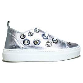 Anvers Sneaker Woman Ginnica Low Art. WL 06 Laminate Silver