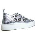 Anvers Sneaker Donna Ginnica Bassa Art. WL 06 Laminato Argento