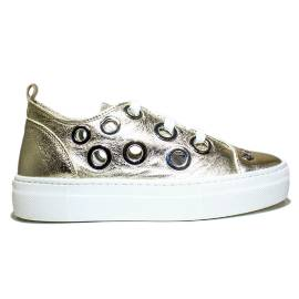 Anvers Sneaker Woman Ginnica Low Art. WL 06 Laminate Gold