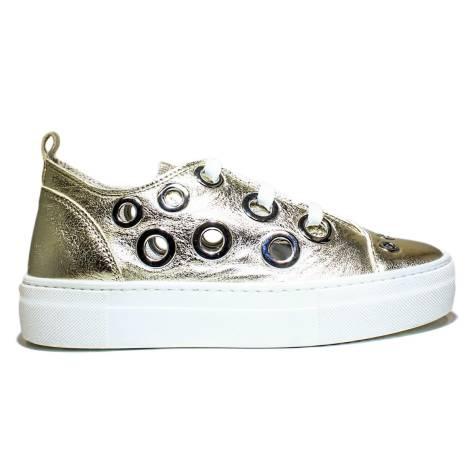 Anvers Sneaker Donna Ginnica Bassa Art. WL 06 Laminato Oro