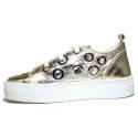 Anvers Sneaker Woman Ginnica Low Art. WL 06 Laminate Gold